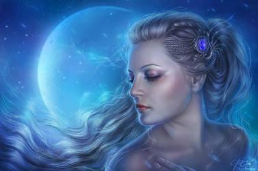 Wild Moon by Helga-Helleborus