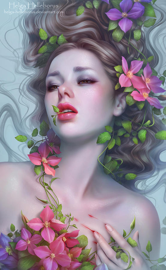 Beauty is on the inside  (closeup) by Helga-Helleborus