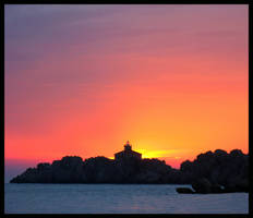 A Romantic Sunset in Dubrovnik by artlilac