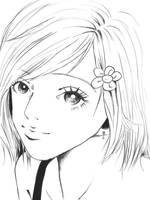 Hachiko -nana- lineart by nemolina11