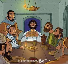 Last Supper Cartoon Art by PrisonerOnEarth