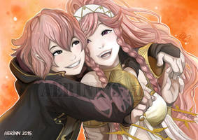 Linfan and Olivia from Fire Emblem : Awakening by Aerinn-I
