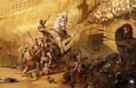 Battle at the coliseum by Reicheran