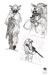 Sketch and study 13 by Reicheran