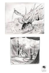 Sketch and study 16 by Reicheran
