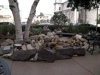 St Joe's Hospital fountain by wolfen