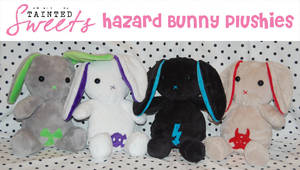 Hazard Bunny Plushies by danger0usangel03