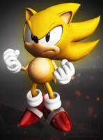 Sonic Forces - Classic Super Sonic Model Test by Alaska-Pollock