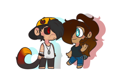 mini Stephanie and Ray .:PC:. by LuckyDestinyHeart