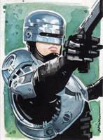 Robocop Sketch Card by Straycatstudio
