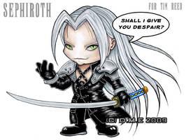 Sephiroth Chibi commission by tavington