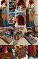 Princess Sally cosplay fursuit by tavington