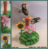 Green Hill Zone Mini Diorama by tavington