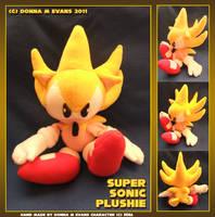 Super Sonic plushie by tavington