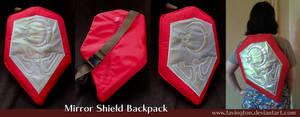 Ocarina of Time Mirror Shield backpack by tavington