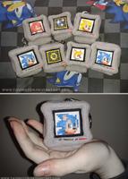 Sonic Monitor Plush Keychains by tavington