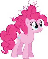 Pinkie's new style by M99moron