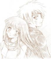 KibaHina Doodle by akome1206