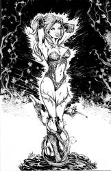 Poison Ivy Sketch Cover Batman #50 by JimmyReyes