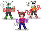 (Open! Cheap! 1/3 OTA) Monster adopt! by SkullgirlX1