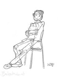 Sitting Guy by 5dave