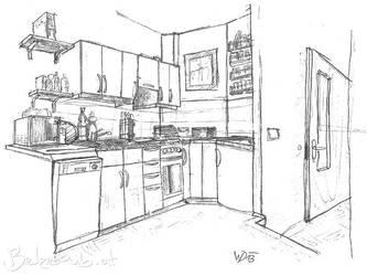 Kitchen interior by 5dave