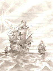 columbus ships - not edited - by FacundoDiaz