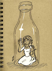 Inktober Day 18: Bottle by ALS123