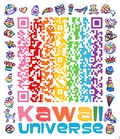 Kawaii SD Cute Shapes QR Code by KawaiiUniverseStudio