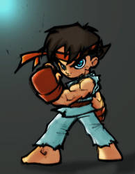 Ryu Stance by commanderlewis