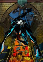 Symbiote Spiderman by commanderlewis