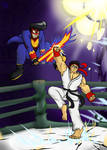 COMMISSION: Muta vs Ryu by Carbonated-James