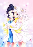comm. || Lunar Angel and Stellar Valkyrie by BluAjisai