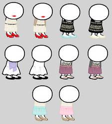 dress sprites 1 by jadedave