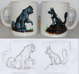 Myst and Etoh Cups by akelataka