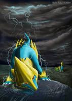 Manectric Making a Storm by akelataka