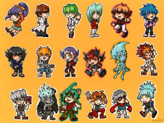 Stickers Yu-Gi-Oh! by Ichig0Minako