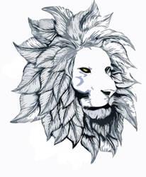 Lion with Leaf Mane by Draug88