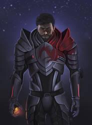 Hawke in Mass Effect Armor by GeminiBrain
