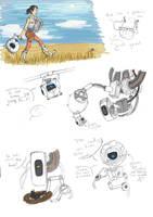 Portal 2 Sketchdump by BarbruBarbarian