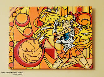 Sailor Venus Stained Glass Painting by Marie-PierMarchand