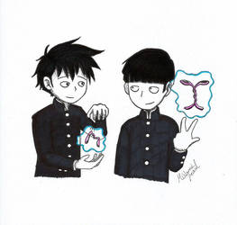 Psychic Brothers (Inktober 8) by MislamicPearl