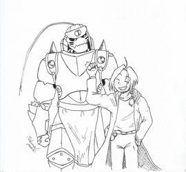 Elric Brothers (Inktober 13) by MislamicPearl