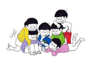 Matsuno Brothers (Inktober 19) by MislamicPearl