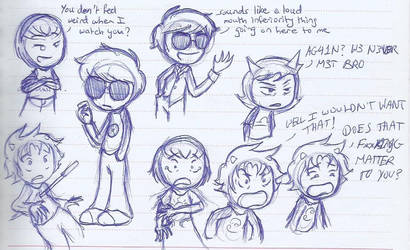 Old Homestuck doodles by MislamicPearl