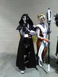 Reaper and Mercy by DemonfoxKyubi