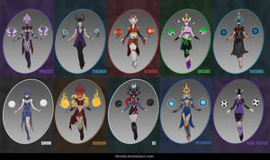 SYNDRA - 10 skin concepts by iBralui
