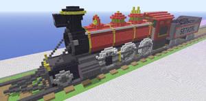 Minecraft train by Sethial