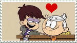 The Loud House - Lincoln and Luna (Lunacoln) Stamp by Bart-Toons