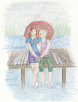 Sitting in the Rain by Lucyndaria